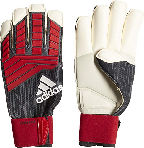 adidas Erwachsene Predator French Terry Torwarthandschuhe, Black/Red/White, 9 Red French Terry