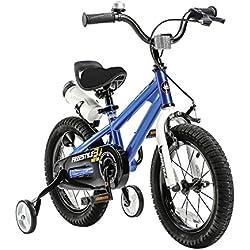 "Royal Baby Niños Freestyle Steel bicicleta infantil, color azul, tamaño 14"""