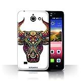Stuff4 Hülle / Hülle für Huawei Ascend Y550 LTE / Stier