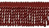 Orlo con frange in canutiglia da 7,6cm color rosso ciliegia, lunghi, colore E13, codice #BFS3