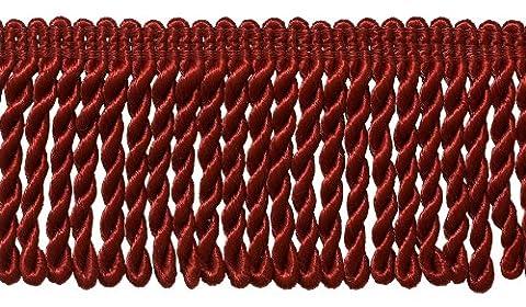 7,6cm de long Rouge cerise Bullion Fringe Trim, # Bfs3Couleur: E13, vendu au mètre