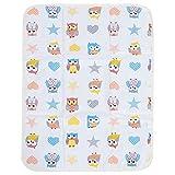 Tappetino da Viaggio Portatile Impermeabile Traspirante Urina per Bambini Addensare Cotone Infantile Fasciatoio per Pannolini perRagazzi Ragazze Neonato (Owl)