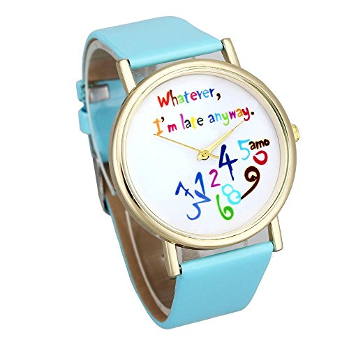 orologi-sodialrorologi-da-polso-donne-pella-orologi-whatever-i-am-late-anyway-lettera-orologi-colorb