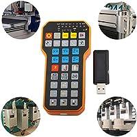 StageOnline Mando inalambrico para Maquina CNC, Controlador Remoto inalámbrico Generador de impulsos Rotary Encoder máquina de Grabado CNC Herramientas para CNC Axis fresadora