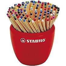 Stabilo 88/150-2 Fine Point Pen Point 88 in Ceramic Pot 150 Pens Assorted