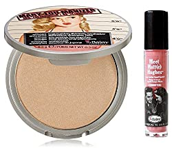 The Balm Mary-lou Manizer - The Luminizer Shimmer, Highlighter and Eyeshadow, 0.3 Ounce with Twinbeauty Pro Brush