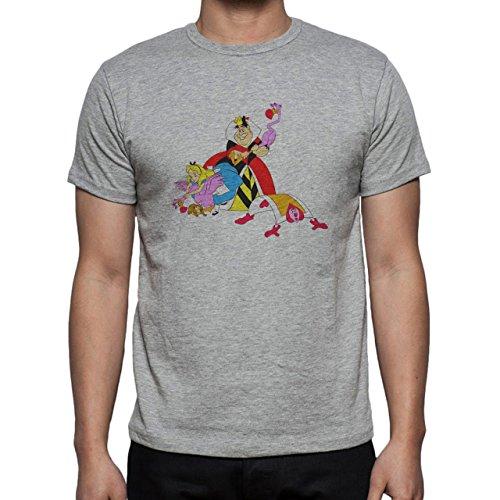 Alice in wonderland Alice With The Queen Herren T-Shirt Grau