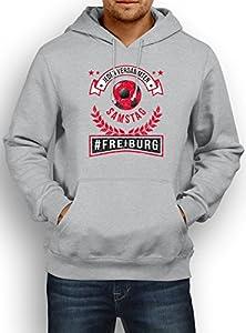 Freiburg #1 Premium Hoody   Fussball   Fan-Trikot   #jeden-verdammten-Samstag   Herren   Kapuzenpullover © Shirt Happenz