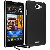 Protective Phone Hard Case Cover Skin Shell for HTC Desire 516 + Screen Film + Stylus Pen - Black