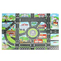 jigang City Traffic Play Mat Waterproof Non-woven Kids Baby Playmat World Map Floor Pad