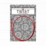 chiaogoo Neuheit 2017! Twist Red Seil (M) für austauschbare Nadelspitzen bis Stärke 2mm - Länge: 75 cm