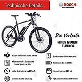 CHRISSON 27,5 Zoll E-Bike, E-Mountainbike Pedelec Elektrofahrrad E-Mounter 1.0 mit Bosch Performance Line Motor Akku Powerpack 300 und Shimano ACERA 3000 Schaltung, Schwarz 48 cm - 5