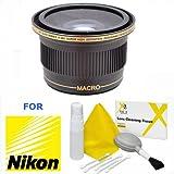 Xit 0.38x Elite Series Panoramic Fisheye Lens For Nikon D5600 D3400 With AF-P DX NIKKOR 18-55mm F/3.5-5.6G Lens