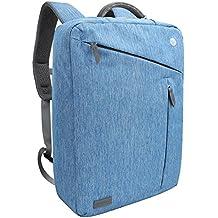 Zaino Laptop, Evecase Valigetta Zaino Borsa Messaggero Impermeabile Convertibile per PC/Computer Portatili/Notebook fino a 17.3 Pollici – Blu