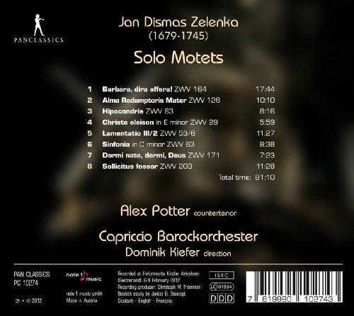Zelenka, Jan Dismas - Solo Mot