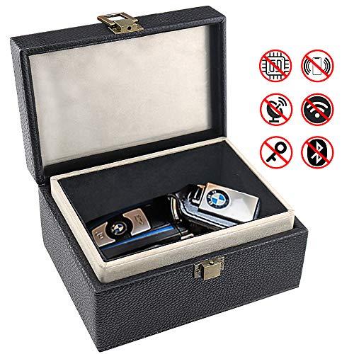 Keyless Go Schutz Autoschlüssel Box,LATIT Autoschlüssel Schutz Funkschlüssel Abschirmung Auto Blocker Auto Schlüsselbox Autoschlüssel Schlüsselhülle Car Key Safe Signalblockierungs RFID -Schwarz