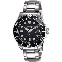 Mens Seiko Prospex Divers Solar Powered Watch SNE437P1
