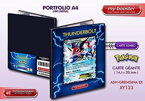 Portfolio Pokemon ASH-GRENINJA EX (Amphinobi) XY133 170HP XY09 - Rangement 180 cartes - Format A4