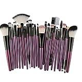 Make-up Pinsel,Binggong 25pcs Kosmetik Make-up Pinsel Rouge Lidschatten Pinsel Set Kit Exquisit Geschenk Pinselset Premium Pinselhaare Gesicht Pulver Pinsel (18x14x2cm, Lila)