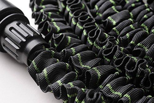 MAGIC FleXx Flexibler Gartenschlauch, 10 > 30 Meter Flexschlauch, carbon/green, inkl. 8 in 1 Düse mit Feststellfunktion, max. Druckbelastung 12 Bar