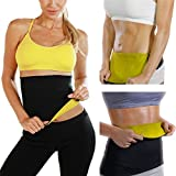 #9: MSE Body Shapers Hot Belt Hot Thermo Sweat Neoprene Shapers Slimming Belt Waist Cincher Girdle For Weight Loss Women & Men-Size M(Free Card Holder)