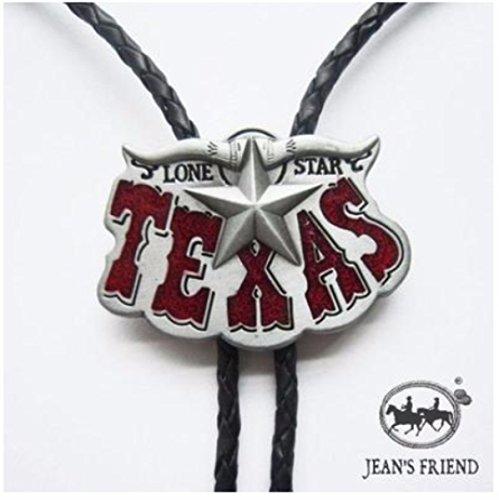 corbata de bolo new unique cordón oeste Texas rojo plata f20c0245c80