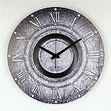 guyuell Vintage Stille Große Dekorative Wanduhr Mit Wasserdichtem Ziffernblatt und Römischer Zahl Retro- Wanduhr, C
