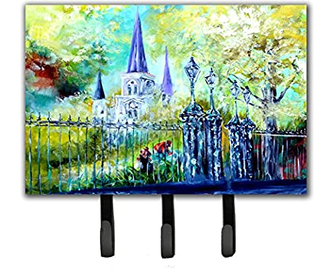 Caroline's Treasures MW1217TH68 St Louis Cathedral Across The Square Leash Or Key Holder, Triple, Multicolor