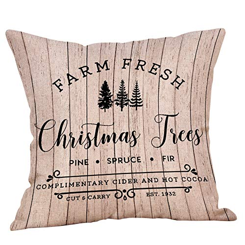 Huacat Kissenbezügen Weihnachten dekorative Kissenbezüge Home Decor quadratische Kissenbezüge Polyester-Mischgewebe 18 x 18 inches