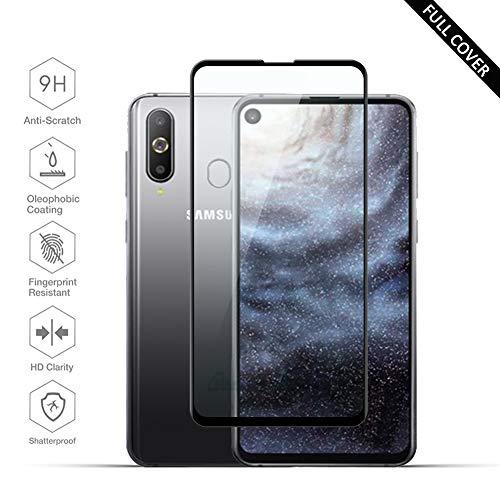 Beyeah [2 Stück] Panzerglas Bildschirmschutzfolie für Samsung Galaxy A8s Panzerglas, [Full Glue Coverage] [Perfekt Version] [Anti-Öl] [Anti-Bläschen] (Schwarz)