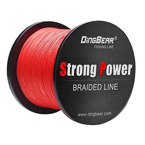 Dingbear 437Yd/400M 85LB/0.45mm Rot Stark Ziehen Sie Generische Geflochtenen Angelschnur Angelschnur Fisch Linien