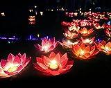 20 Unids velas flotantes Flor de loto multicolor decoracion bodas eventos celebraciones de OPEN BUY