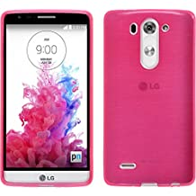 Funda de silicona para LG G3 S - brushed rosa caldo - Cover PhoneNatic Cubierta + protector de pantalla
