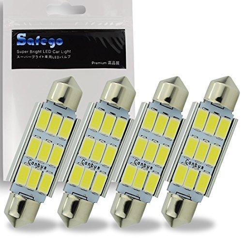 Preisvergleich Produktbild Safego 4 x C5W 41mm LED Canbus 5630 SMD 9 LED Soffitte KFZ Kennzeichenbeleuchtung Innenraum Innenbeleuchtung Soffitte Lampe Licht Weiß DC 12V