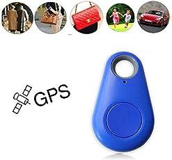 Yukio SmartLife - Mini GPS Tracker, Bluetooth Tracer Locator Schlüsselanhänger Anti Dieb mit Alarm, für Geldbörse Tasche Brieftasche Kinder Schulranzen Haustier Hund