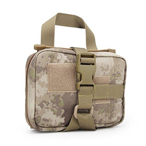haoYK Erste-Hilfe-Koffer Tasche Medizinische Tasche für Notfall zu Hause, Arbeitsplatz, Auto, Outdoor, Camping, Wandern, Survival, at -