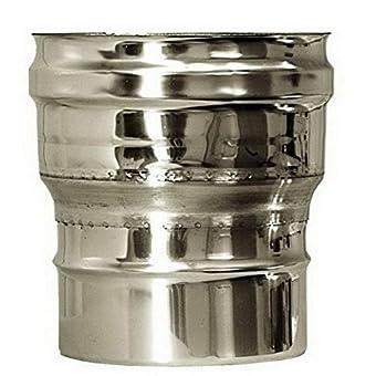 CHEMINEE PAROI SIMPLE TUYAU TUBE INOXIDABLE AISI 316 - dn 150 raccordo caldaia canna fumaria tubo acciaio inox 316 parete semplice