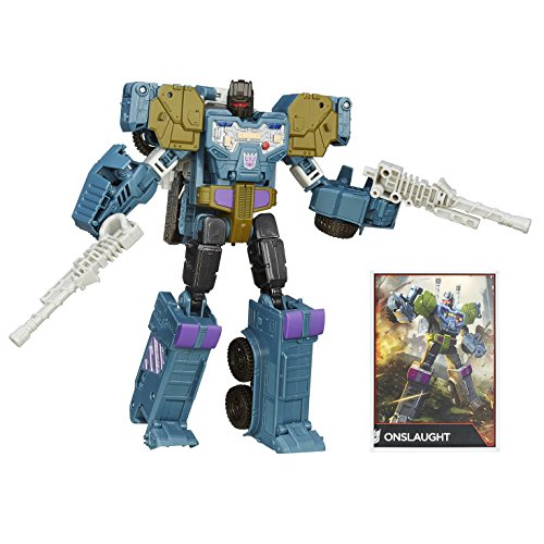 Hasbro B4663 - Transformers - Generations - Combiner Wars - Onslaught - Personaggio 2 in 1