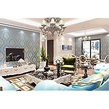 Moderno papel pintado verde dibujos animados dibujos animados letras habitación de los niños dormitorio completo tienda niños y niñas papel pintado 0,53m (20,8cm) * 10m (32,8') = 5.3sqm (gris), Wallpaper only, Sky blue 307-9
