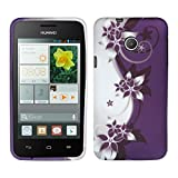 kwmobile Huawei Ascend Y330 Hülle - Handyhülle für Huawei Ascend Y330 - Handy Case in Weiß Violett