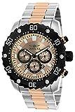 Invicta 22520 Orologio da Polso, Uomo, Display Cronografo, Cinturino in Acciaio Inossidabile, Bicolore, Quadrante Oro Rosa