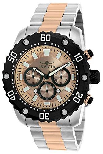 Invicta 22520 Pro Diver Herren Uhr Edelstahl Quarz roségoldenen Zifferblat (Rose Invicta Uhr)