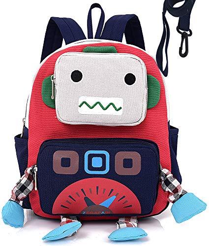 Rucksack Kinder Vorschule Tasche Blau BäR Schule Tiere Gurt Geschirre Leine Roboter Jungen LäSsig -