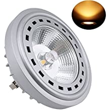 Bonlux 12W LED G53 AR111 240V 2700K Luz Cálida 24 Grados Cree COB LED G53 ES111, Reemplazo del lámpara Halógena de 75W