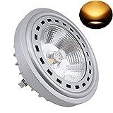 Bonlux 12W LED AR111 12V blanco cálido 2700K 24 grados reemplazo del Cree COB LED AR111 G53 reflector de la lámpara halógena de 75W