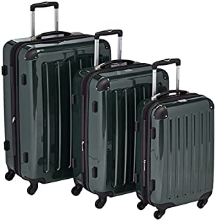 HAUPTSTADTKOFFER - Alex - Set of 3 Hard-side Luggages Trolley Suitces Expandable, (S, M & L), dark green (B005GUFLBW) | Amazon price tracker / tracking, Amazon price history charts, Amazon price watches, Amazon price drop alerts
