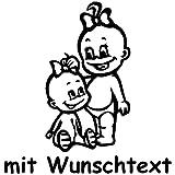 XL Babyaufkleber für Geschwister mit Wunschtext - Motiv G5-MM (25 cm)