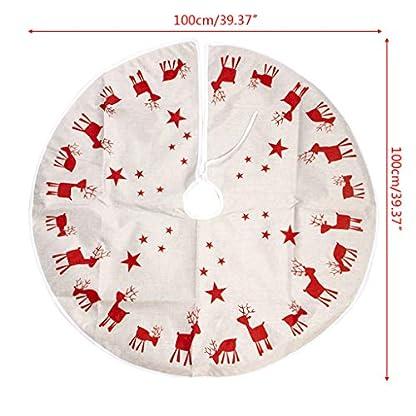 Lifet-Weihnachtsbaumdecke-Wei-Weihnachtsbaum-Rock-Runde-Baumdecke-Christbaumstnder-Teppich-Decke-Weihnachtsbaum-Deko-100cm