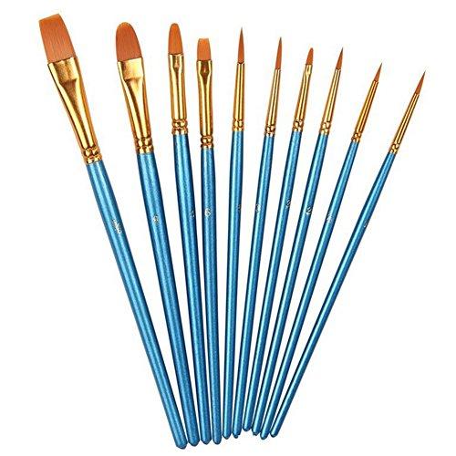 12 Künstlerpinsel, Premium Nylon Pinsel für Aquarell, Acryl Ölgemälde usw. Perfektes Pinsel Set für Anfänger, Kinder, Künstler und Gemälde Liebhaber