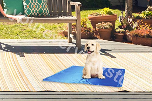 The Magic Toy Shop Pet Dog Cat Cool Mat Self Cooling Gel Mat Pad Bed Mattress Heat Relief Non-Toxic